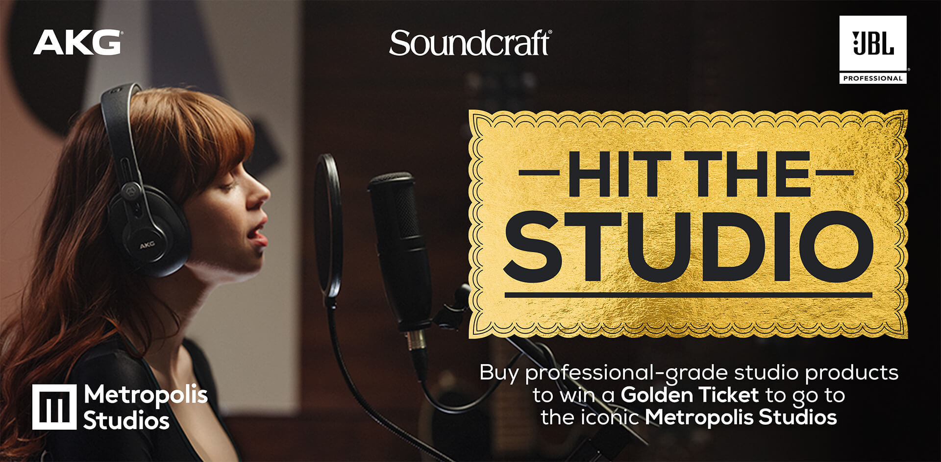 Hit the studio at the iconic Metropolis Studios in London
