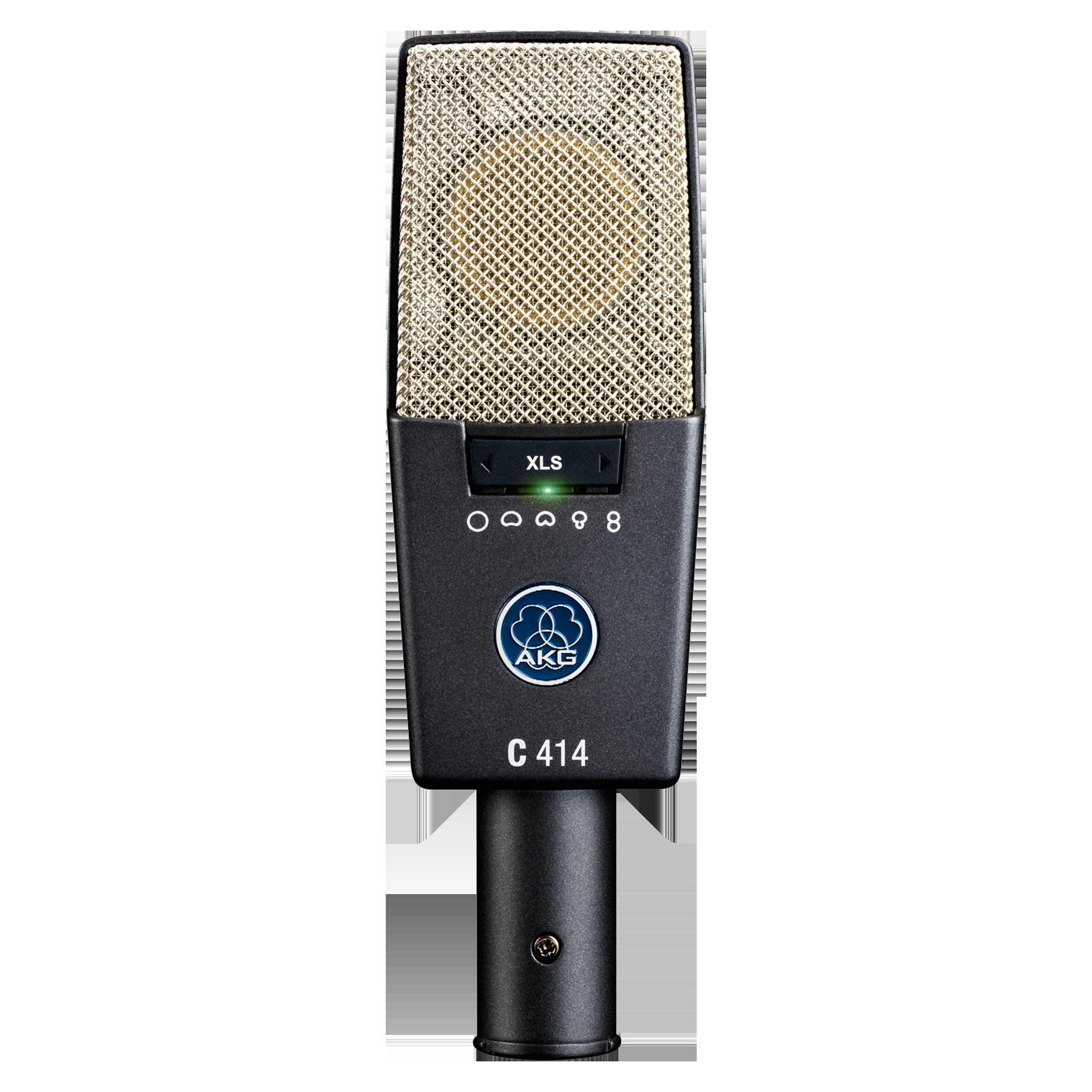 C414 XLS - Black - Reference multipattern  condenser microphone - Hero
