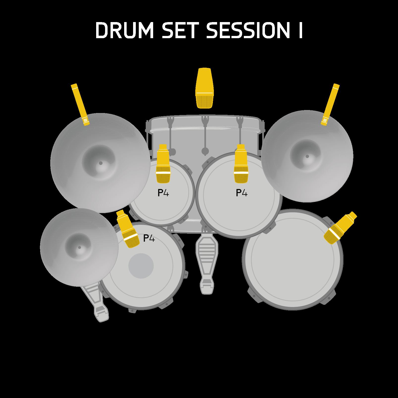 Drum Set Session I - Black - High-performance drum microphone set - Detailshot 1