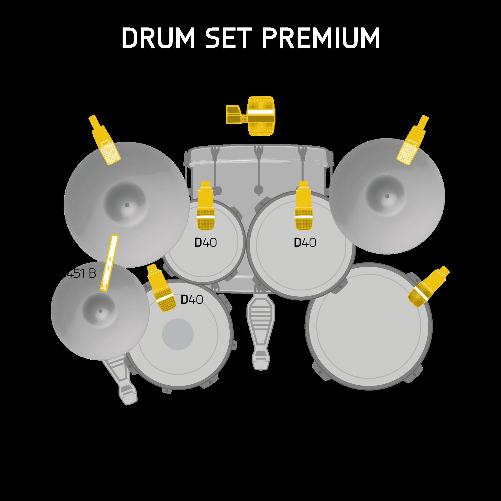 Drum Set Premium - Black - Reference drum microphone Set - Detailshot 1