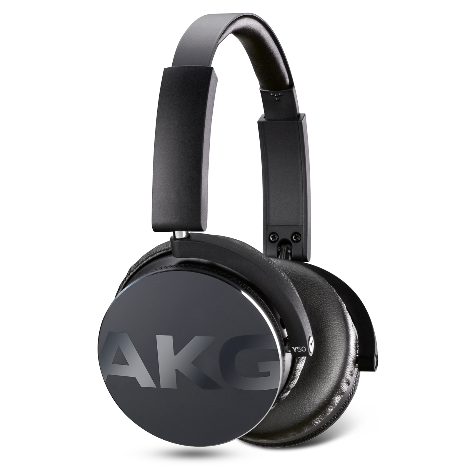 Y50 - Black - On-ear headphones with AKG-quality sound, smart styling, snug fit and detachable cable with in-line remote/mic - Detailshot 4