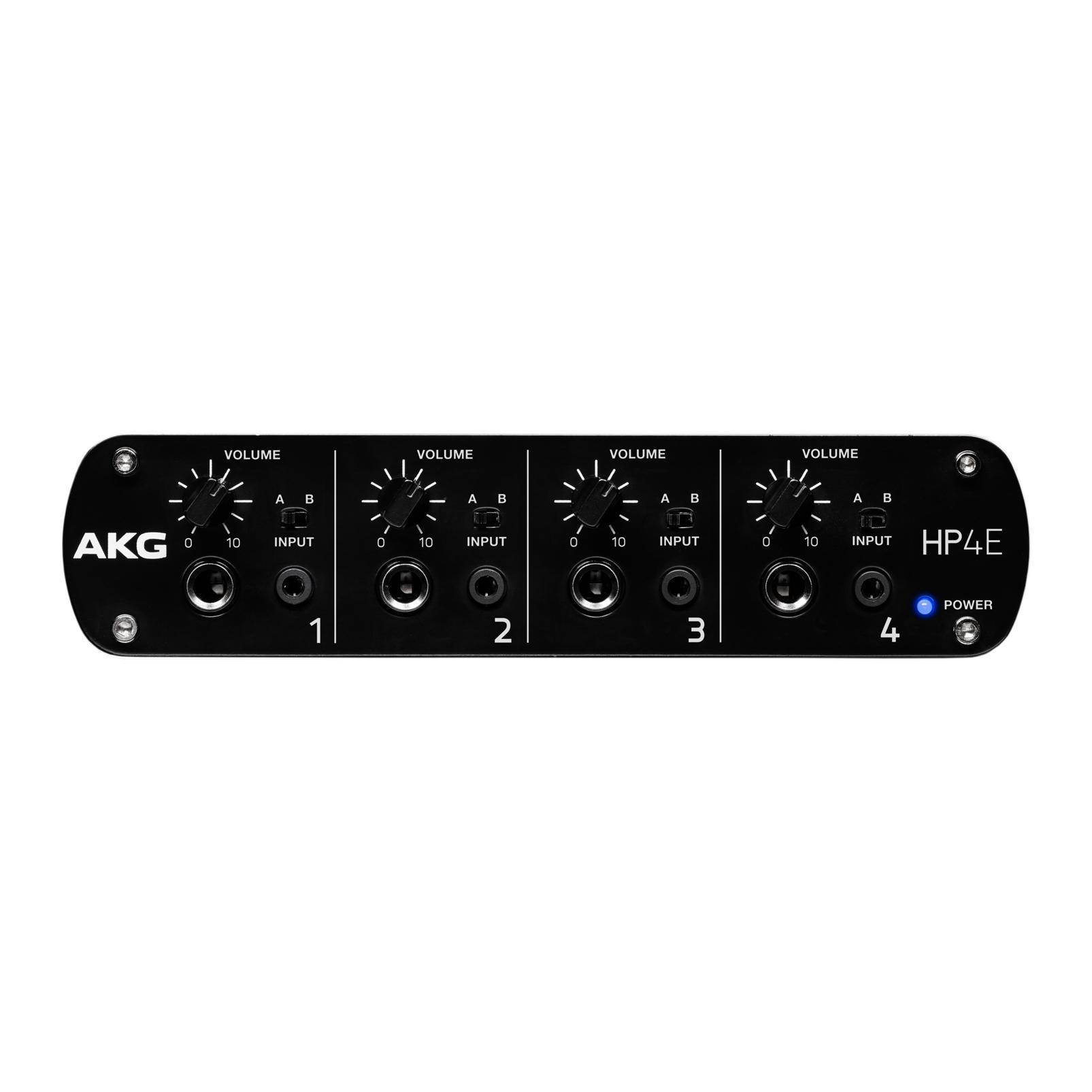 HP4E - Black - 4-channel headphone amplifier - Front